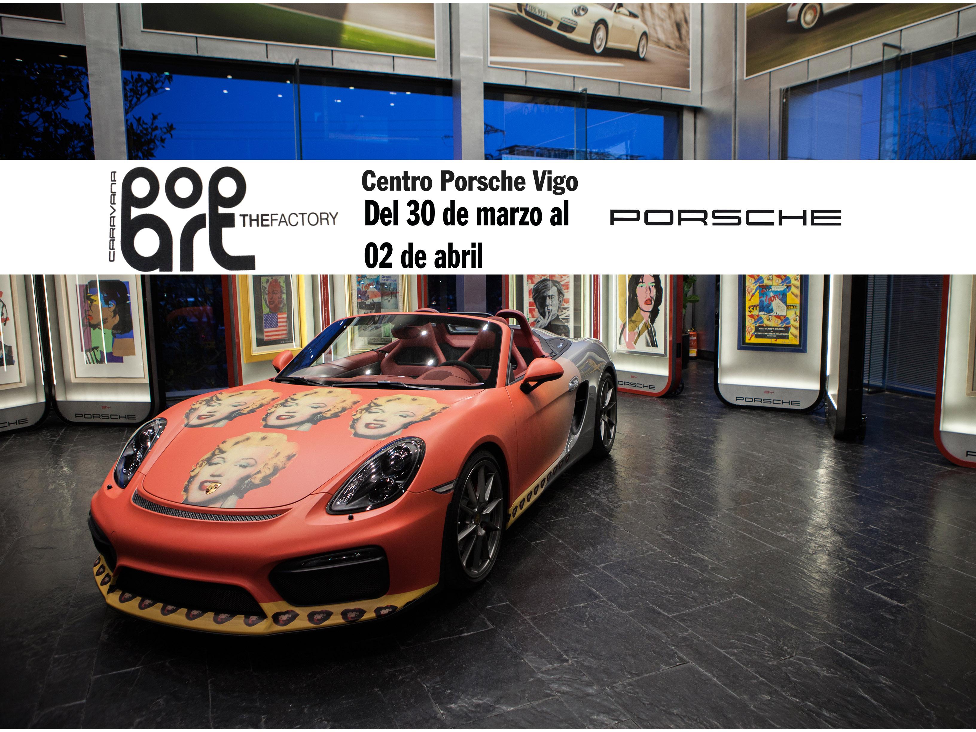 Obras originales Warhol en Porsche Vigo